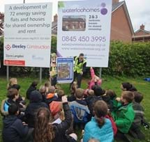 Schoolchildren visit Regal Park development