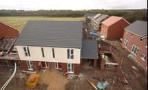New homes under construction at Horncastle